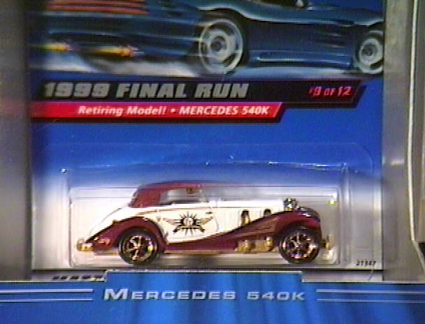 Hot Wheels 1999 Final Run Retired Stutz Blackhawk #6 New In Box